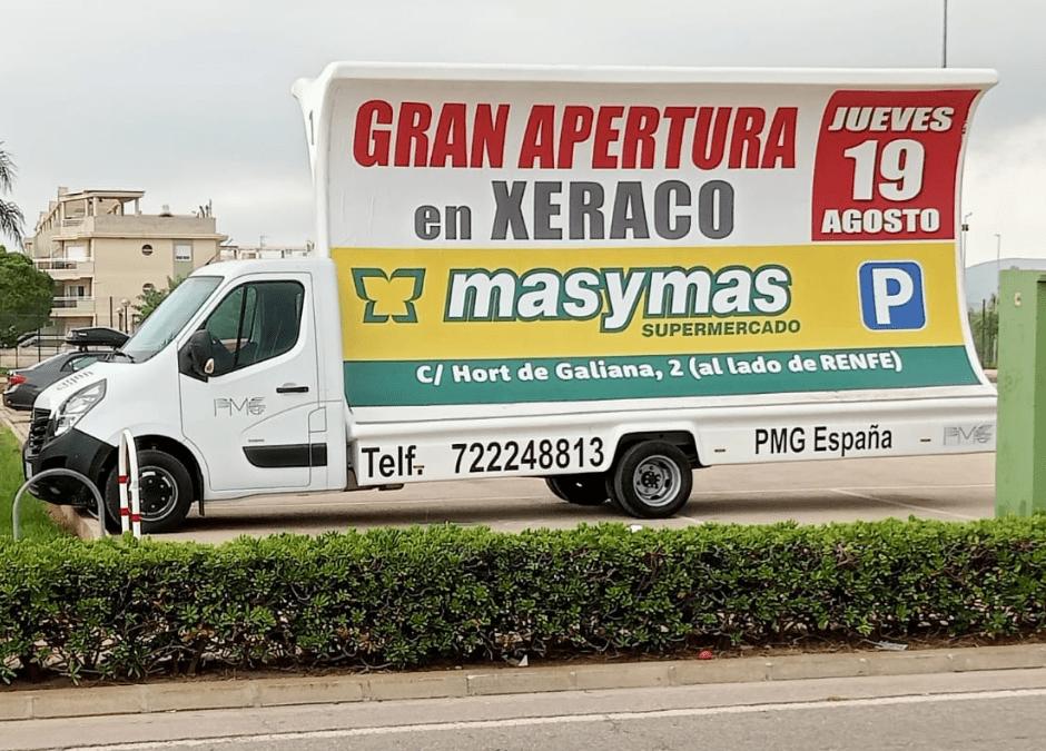 Masymas anuncia la nueva apertura de un supermercado en Xeraco
