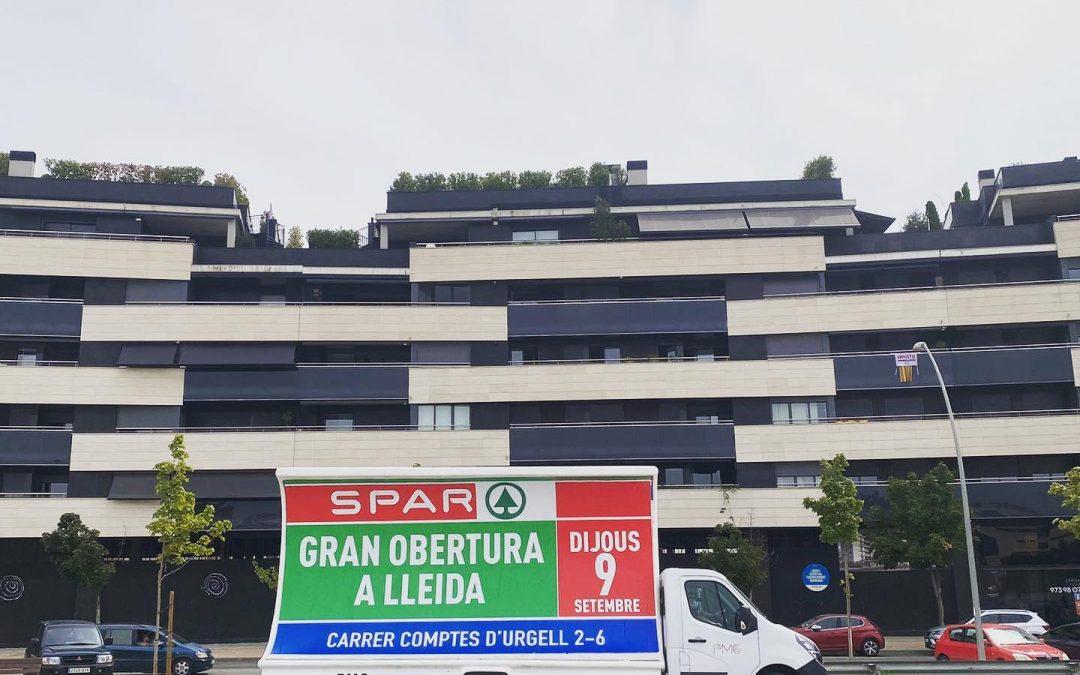 apertura Lleida Spar publicidad