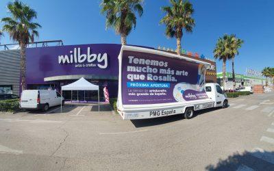 Publicidad local de impacto para las tiendas Milbby